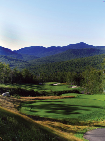 No. 88                       Sunday River                                              Sunday River is the third debut entry                       from Robert Trent Jones II. The course was                       overlooked in its early days, mostly owing                       to its off-the-beaten-trail location in western                       Maine. Consider it found.                                               A wider,                       even more scenic version than Jones's other                       Maine attraction, the 20-year-old Sugarloaf,                       Sunday River is carved from dense forest                       and dishes out instant variety and memorability.                       Plenty of grin-inducing vistas of                       the Mahoosuc Range await, including a                       dandy at the 443-yard, par-4 18th. For pure                       sensory overload, make an autumn visit.