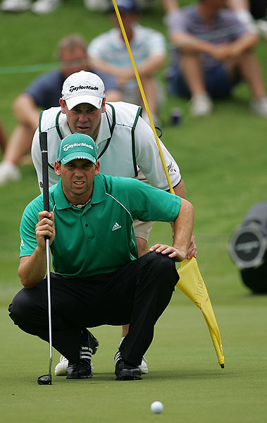 Sergio Garcia struggled with his putter in the first round, shooting an even-par 70.