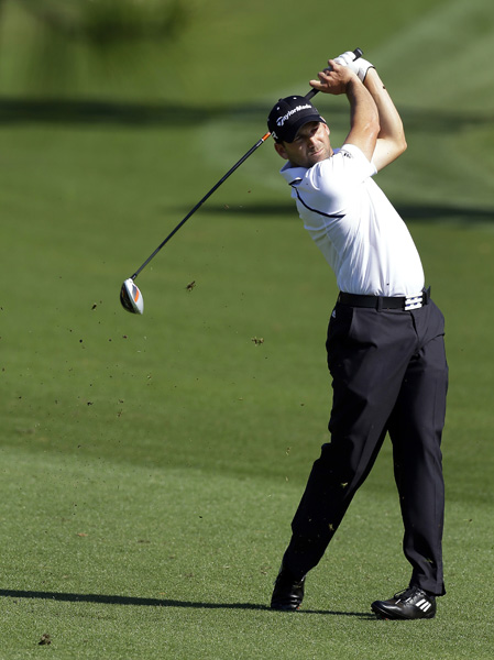 Sergio Garcia made five birdies, four bogeys and a double bogey for a 72.