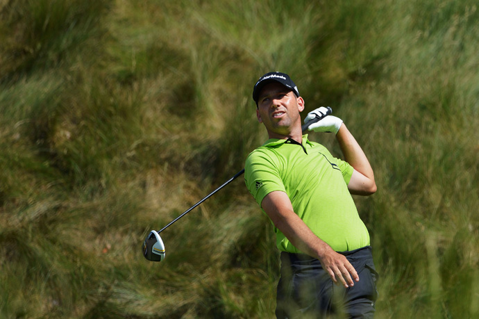 Sergio Garcia is playing in his first tournament in America since his controversial comments about Tiger Woods.