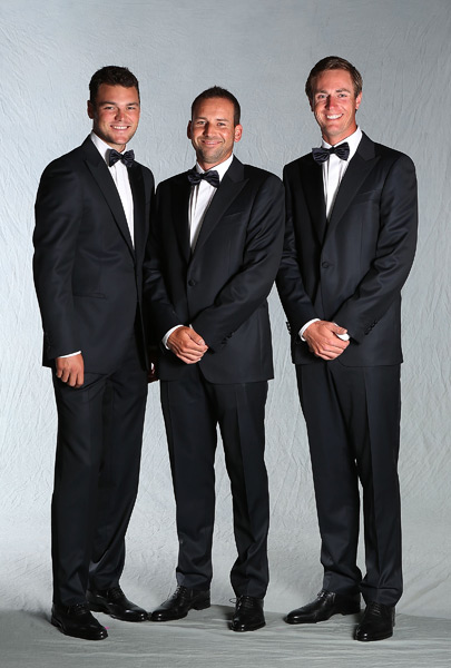 From left to right: Martin Kaymer, Sergio Garcia and Nicolas Colsaerts.