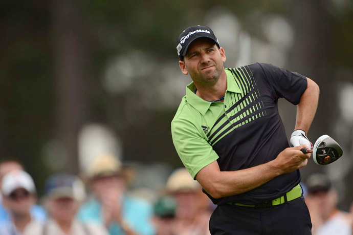 Sergio Garcia is tied for the lead after a bogey-free 66.