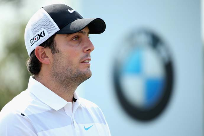 Francesco Molinari in action during the final round of the BMW Masters at Lake Malaren Golf Club on Oct. 27, 2013 in Shanghai. Molinari finished T2, just one shot behind winner Gonzalo Fernandez-Castano.