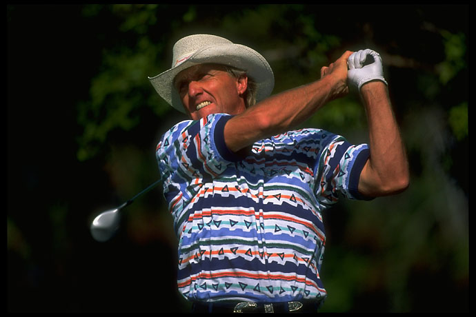 "Greg Norman -- one of the original ""world tour players"" -- at the Dubai Desert Classic in January 1995."