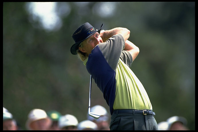 Greg Norman at the 1992 Masters. He finished T6th that year.