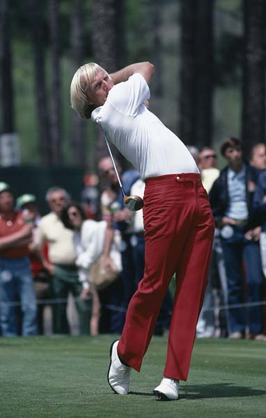 Precision and power: Greg Norman at the 1981 Masters.
