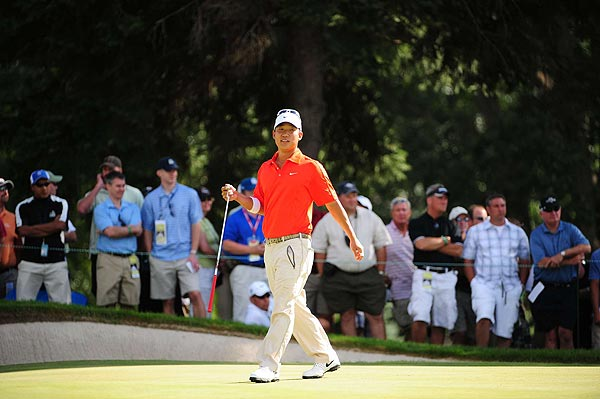 Anthony Kim's final-round 77 dropped him down to 55th.