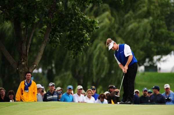 David Toms, who shot 69 in the second round, finished at seven over par.