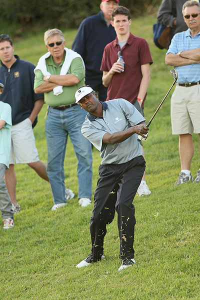 Vijay Singh got off to a bumpy start with a one over 72.