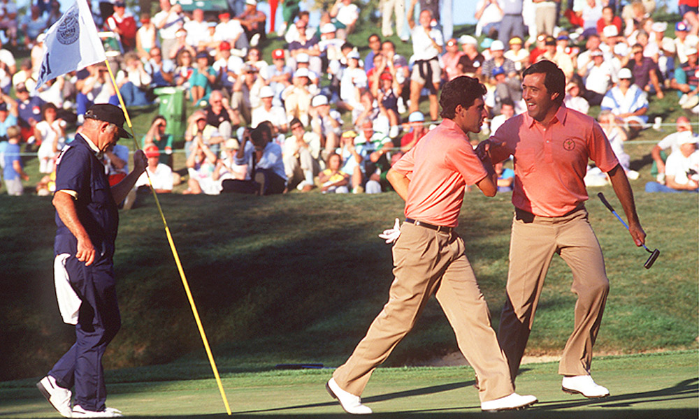 1987 Ryder Cup at Muirfield Village: Europe wins 15-13