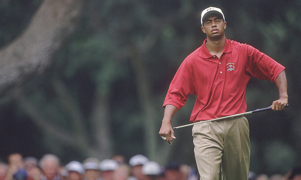 1997 Ryder Cup at Valderrama                           In his first appearance at the Ryder Cup, and just months after his breakthrough win at the Masters, Woods disappointed with a 1-3-1 record. Sunday marked the first and only time Woods lost a Ryder Cup singles match -- he fell 4 and 2 to Costantino Rocca.
