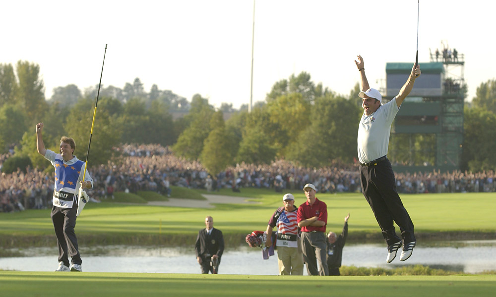 2002 Ryder Cup at The Belfry: Europe wins 15.5-12.5