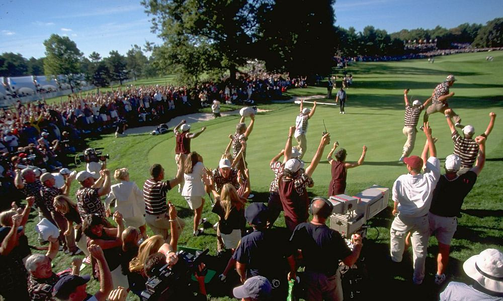 1999 Ryder Cup at The Country Club: U.S. wins 14.5-13.5