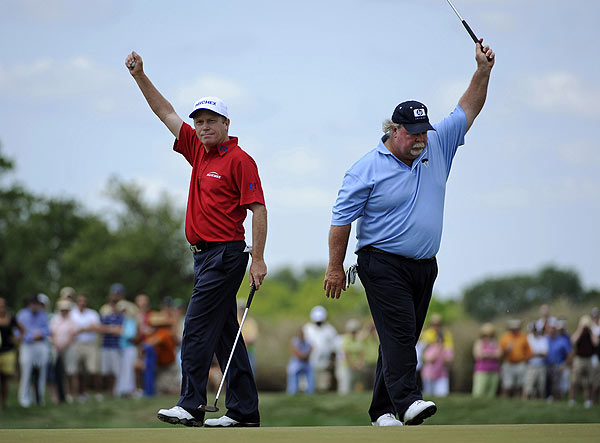 Jeff Sluman and Craig Stadler finished as runners-up for the second straight year at the Legends. In 2008, they finished one stroke behind Tom Watson and Andy North.