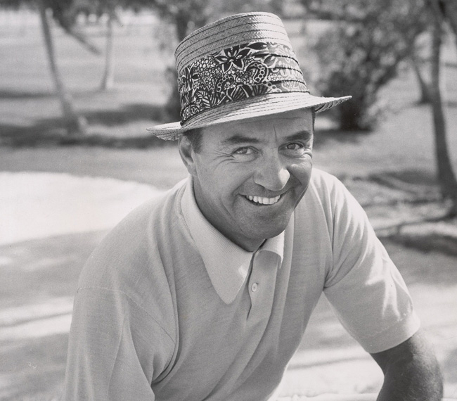 Sam Snead at the 1961 L.A. Open                       He didn't shoot his age, but 61-year-old Sam Snead wasn't far off when he fired a 66 in the third round of the L.A. Open. On Sunday, Slammin' Sammy birdied 17 to draw within one shot of the lead. But Dave Stockton disrespected his elder when he feathered a 3-wood from 244 yards to the 18th green to take the title.