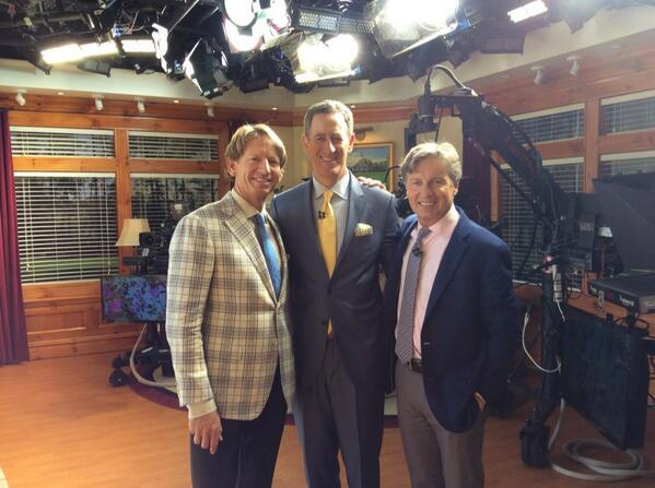 @BradFaxon                        These two guys make it look easy doing Live From the Masters w @chambleebrandel and @RichLernerGC