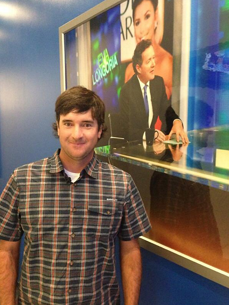 From Bubba Watson's Twitter:                           Busy week, hanging with my boy @piersmorgan tonight #3rdtimeontheshow