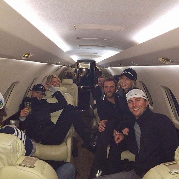 From Dustin Johnson's Instagram:                           The best family ever @paulinagretzky @austin_johnson12 @janetgretzky love all of you