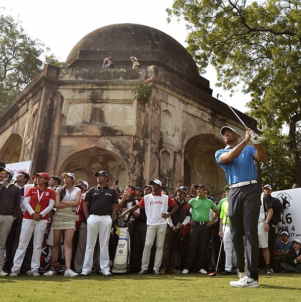 From Tiger Woods' Instagram:                           Great day of golf. Hopefully this visit, in some small way, helps grow the game in this amazing place.