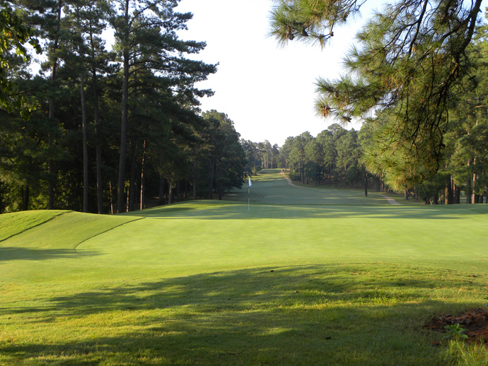 Southern Pines Golf Course -- Southern Pines, N.C.                       Designed by the same architect (Donald Ross) in the same setting (the sand hills of North Carolina), it has a lot in common with Pinehurst No. 2. What's different is its profile (rarely does it receive Playboy centerfold treatment). And its price tag. Greens fees start at $48.
