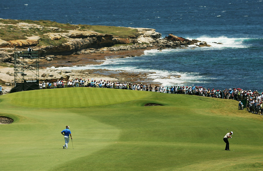 "New South Wales Golf Club -- La Perouse, Australia -- No. 5: Par 5, 515 yards                       The Cypress Point-like 6th gathers most of the ""holy cows"" at this Alister MacKenzie design that perennially ranks among our Top 40 in the World, but the most spectacular vista of all arrives when you climb the fairway here, then peer down from the crest at Botany Bay, where in 1770 Captain James Cook of the British Royal Navy ""discovered"" Australia."