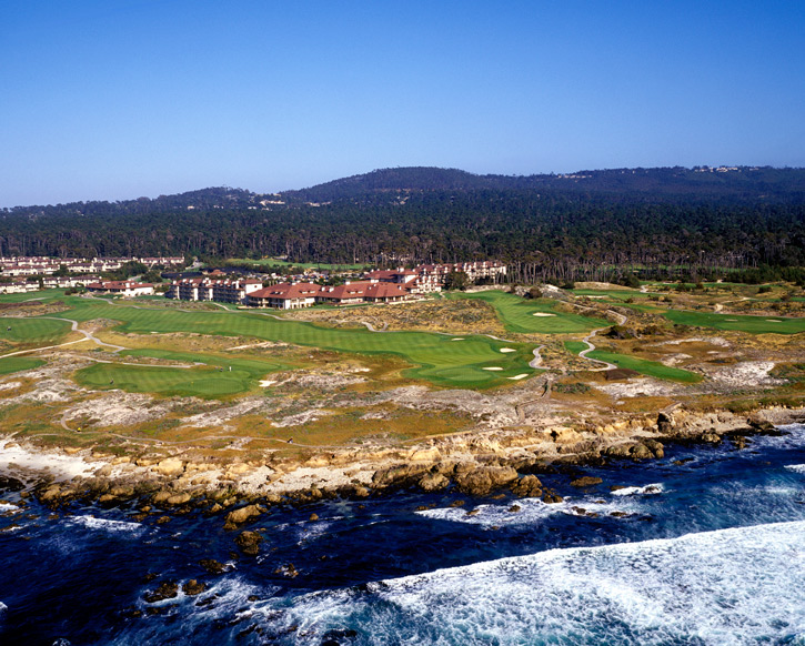 Spanish Bay, Pebble Beach, Calif.: Designed by Robert Trent Jones Jr., with help from 5-time British Open champion Tom Watson and former USGA president Sandy Tatum, the 25-year old layout has Pacific Ocean views from most holes and a bagpiper that serenades golfers and resort guests every evening at dusk.