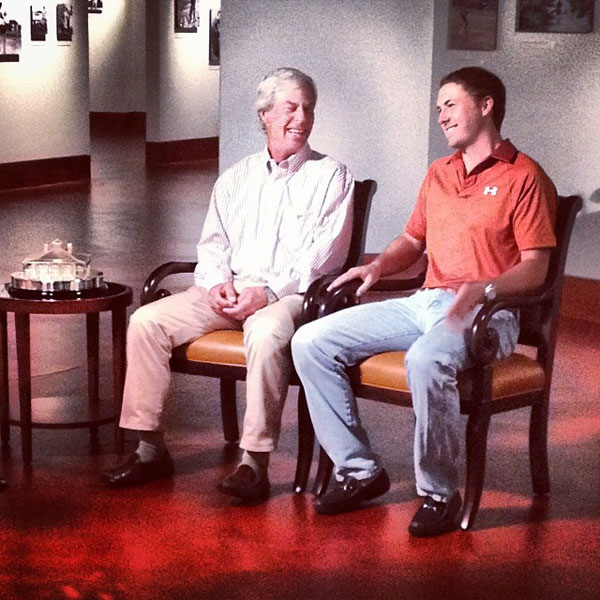 @JordanSpieth: What an incredible role model and mentor...Mr Crenshaw gave me some tips today in a #Masterspreview that will air on @golfchannel