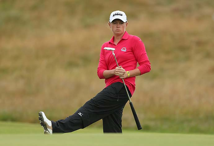 """The ultimate goal for all of us is to be playing for the same amount of money as the guys and playing on the same golf course, the best golf courses like the guys and playing for the same amount of money, that's where we all want to get to. I hope I'm still on Tour when it happens, if it happens.""                           --Women's British Open champion Stacy Lewis on whether she'd like to see equal purses for men and women in golf."