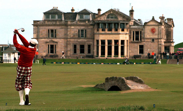 A Round at St. Andrews                           The Old Course is the home of golf, host of the 2010 British Open, and Tiger's favorite course. $180-$257 on standrews.org.uk