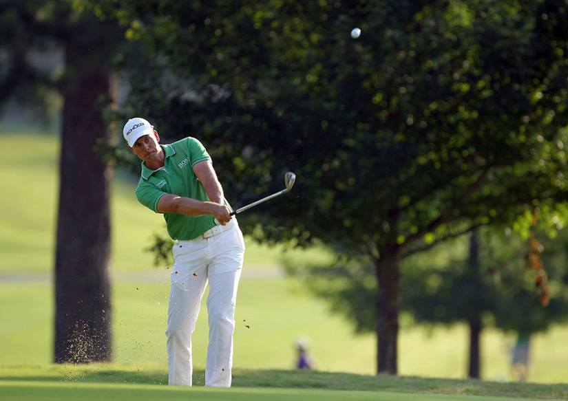 Henrik Stenson made five birdies and a bogey for a 66.