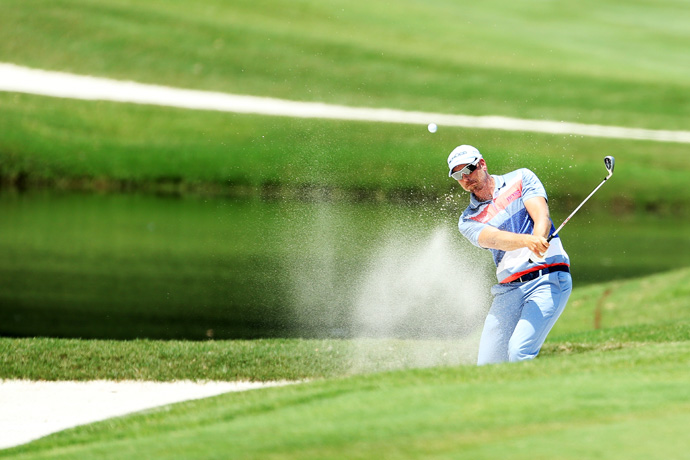 Stenson was in the lead until he made bogeys on Nos. 11 and 15.