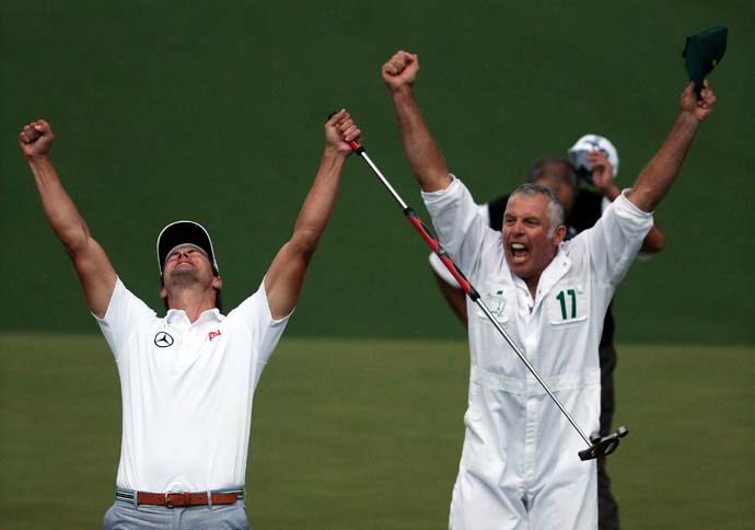 """The winning putt might be the highlight of my career, because he asked me to read it.""                       --Steve Williams on the putt that won the Masters for Adam Scott."