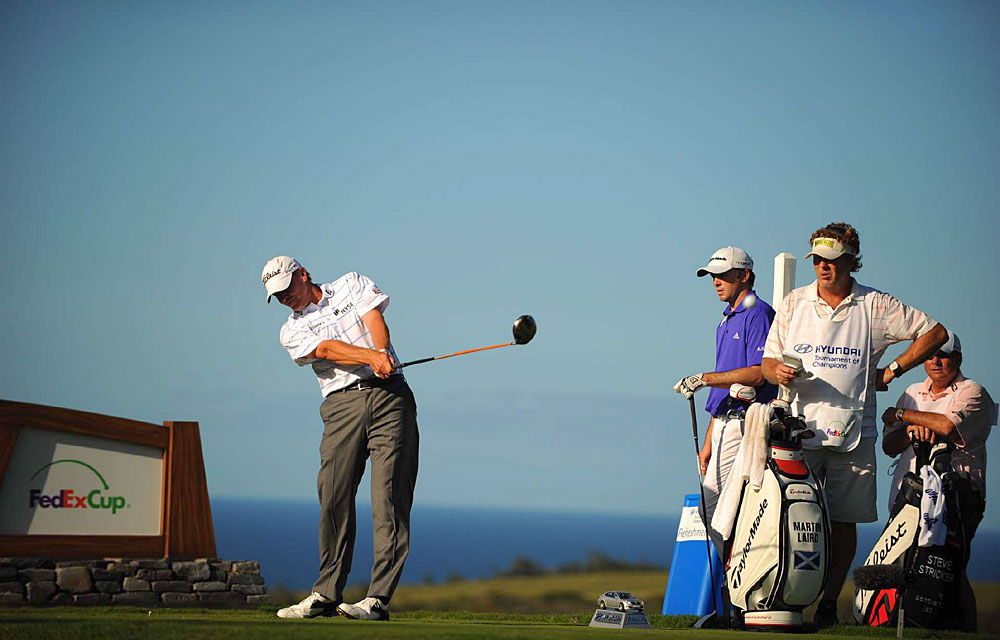 Steve Stricker fired a flawless 10-under 63 to build a five-shot lead.