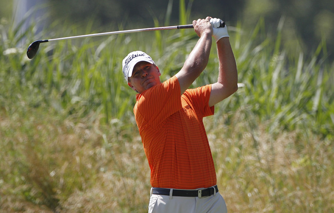 Steve Stricker is three shots back after a 66.