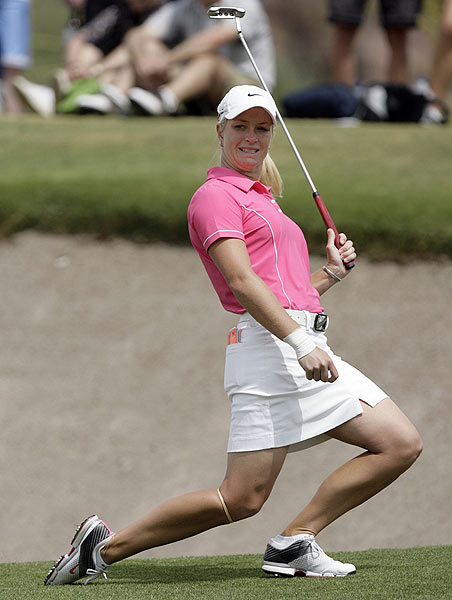 Suzann Pettersen opened her round with three-straight birdies. She finished four strokes off the lead.