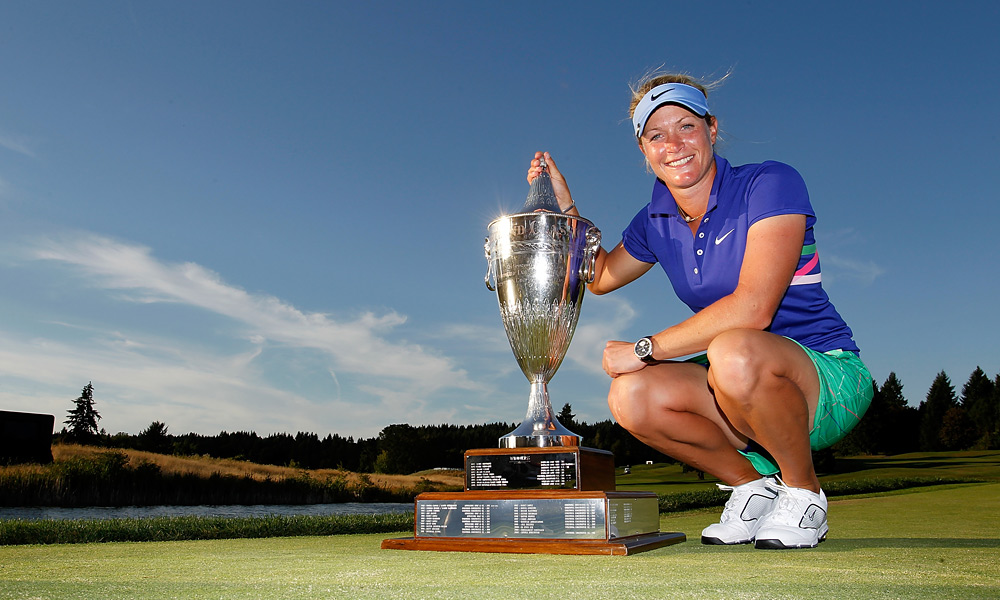 Pettersen after her win at the 2011 Safeway Classic.