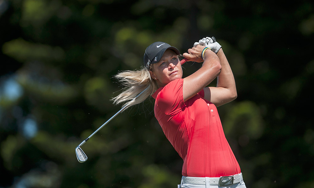 Last week's champion Suzann Pettersen matched Creamer with a 69.