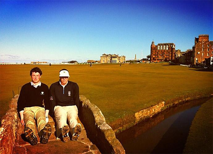 "Dufnering has reached the home of golf.                           ""@PaulCampbell91: #Dufnering on the Old Course St Andrews! @JasonDufner @Keegan_Bradley @RickieFowlerPGA @DJohnsonPGA"""