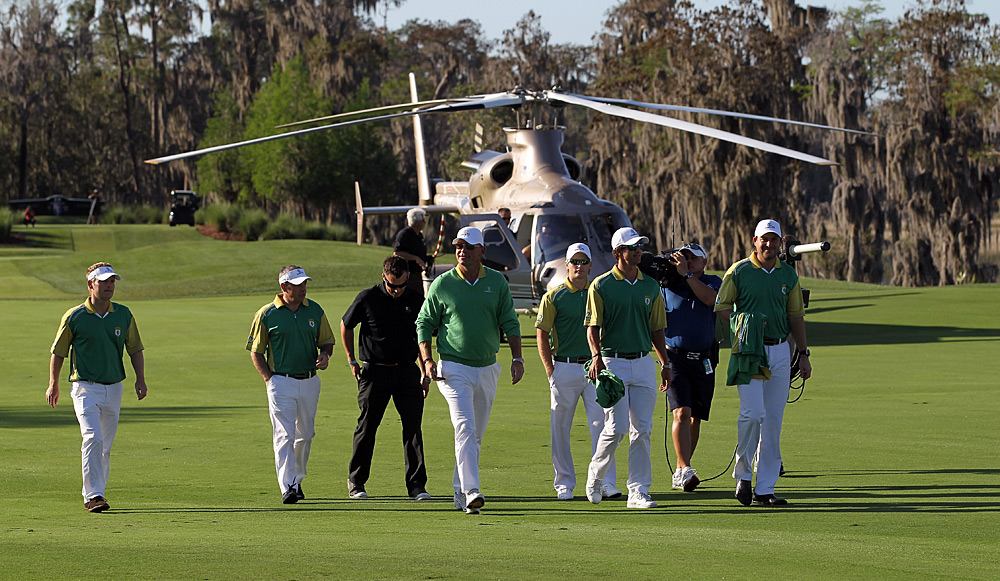 The Tavistock Cup                           This event serves as the yearly reminder that pro golfers have more money than they know what to do with. Case in point, the nauseating grand entrances by helicopter. That's right, the golfers get from one side of Orlando to the other by helicopter. Even worse, a lot of players belong to multiple clubs and simply switch teams when a new club needs promoting (See Woods, Tiger and Els, Ernie). And guess what -- for 2013 they've added two more clubs to the competition.