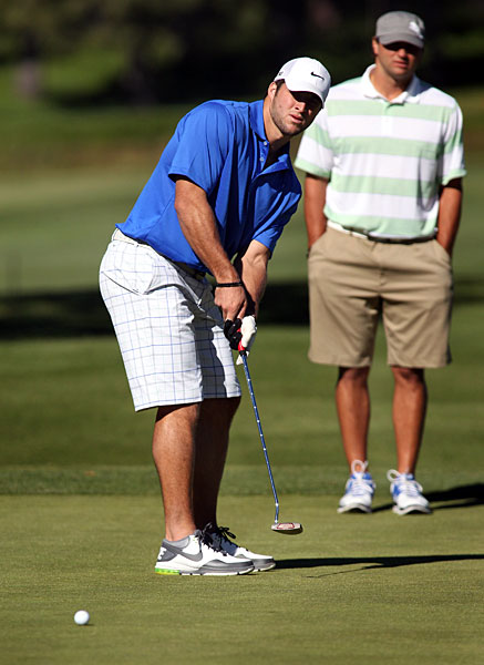 Tebow participated in the American Century Championship for the first time this year.
