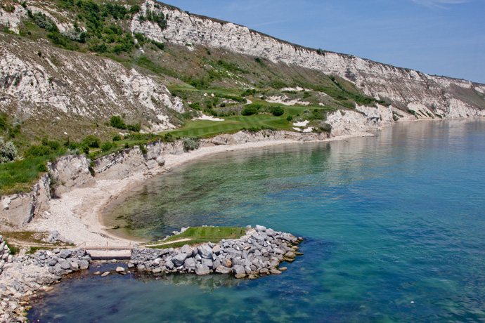 "Thracian Cliffs -- Bulgaria                             Player Says: ""On beautiful white cliffs of the Black Sea, which you can see from every hole. Pebble Beach has nothing on this."""