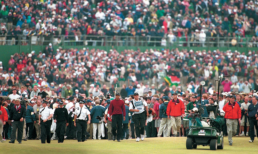 Woods then brought the Old Course at St. Andrews to its knees during the 2000 British Open, winning by eight shots over Ernie Els and Thomas Bjorn.