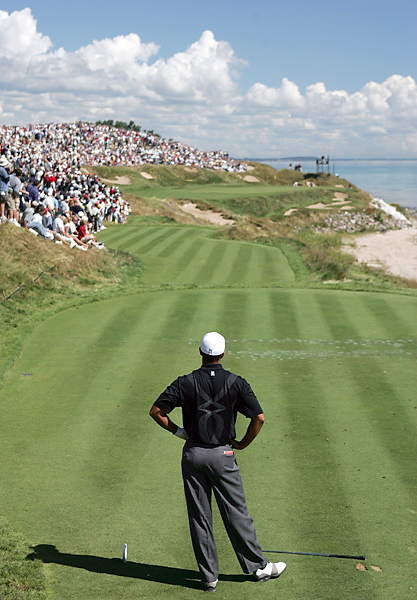 at the par-3, 214-yard seventh, known as Shipwreck, during the 2004 PGA Championship.