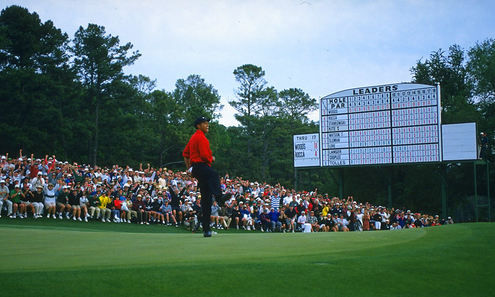Woods won the 1997 Masters, his first major, by a remarkable 12 shots.
