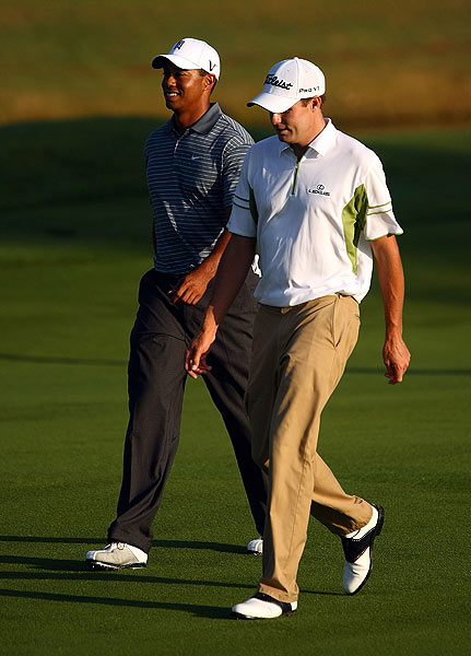 """Woods, who played nine holes with Nick Watney, said the course was """"in perfect shape."""""""