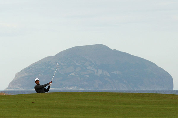 """""""It's a lot more difficult than people are letting on,"""" Woods said of Turnberry."""