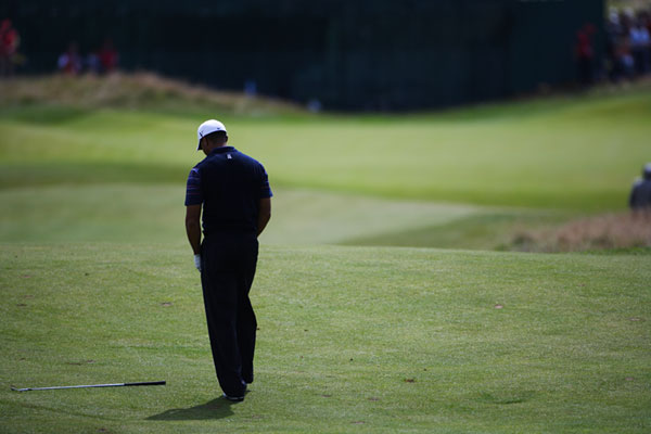 """I certainly made a few mistakes out there today,"" Woods said."