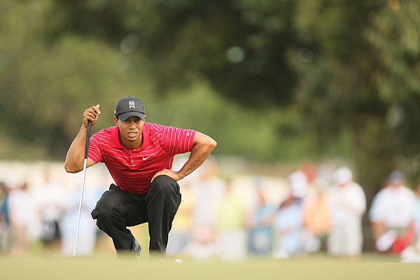 """""""The good news is, I got better each and every day, my ball-striking, my feel got better each and every day,"""" Woods said."""