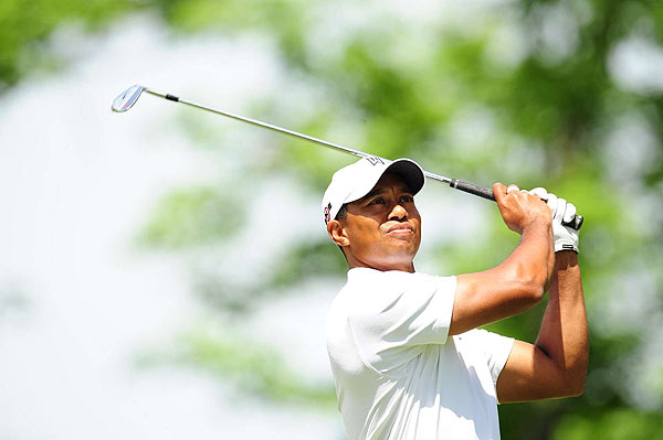 First Round of the Memorial                       Tiger Woods only missed one fairway, on 18, in his opening-round 69.