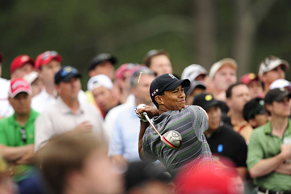 Woods returned to the Masters after more than four months away from the game.